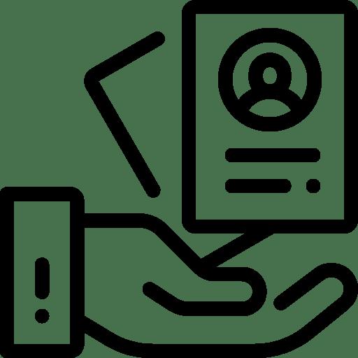 icone d'une main tenant un document, dpo externalisé